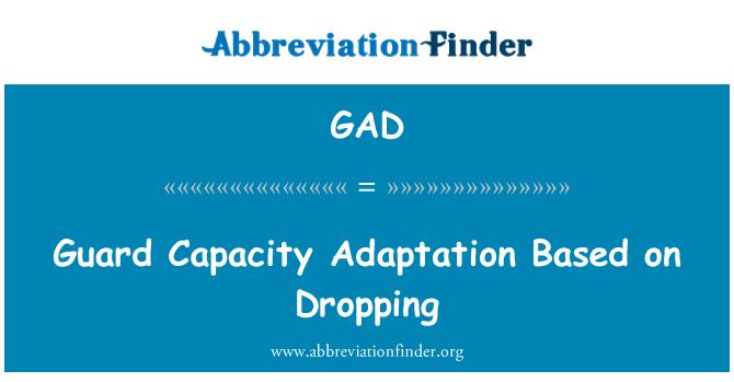 GAD: Guard Capacity Adaptation Based on Dropping