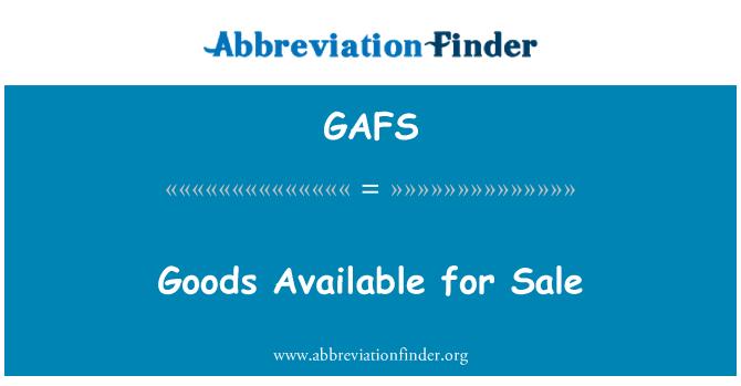 GAFS: Mallar satışa