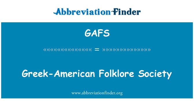 GAFS: Yunan asıllı folklor Derneği