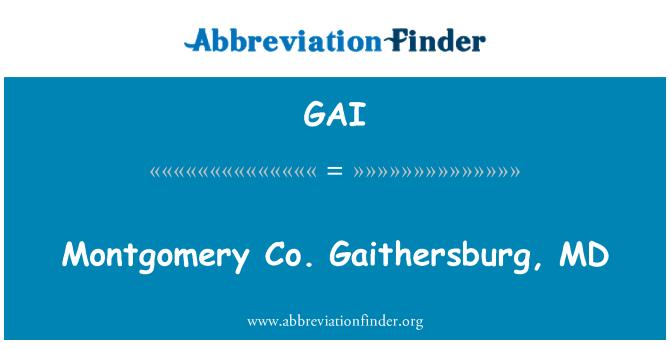 GAI: Montgomery Co. Gaithersburg, MD