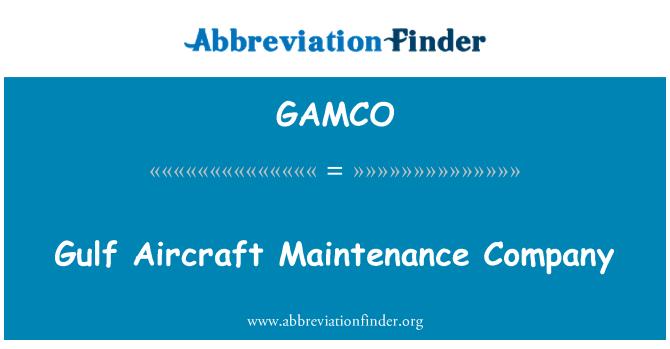 GAMCO: Gulf Aircraft Maintenance Company