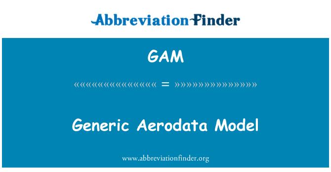 GAM: Generic Aerodata Model