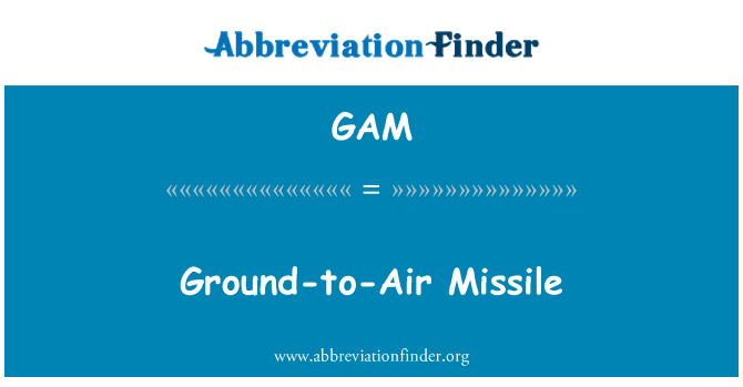 GAM: Ground-to-Air Missile