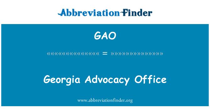 GAO: Georgia Advocacy Office