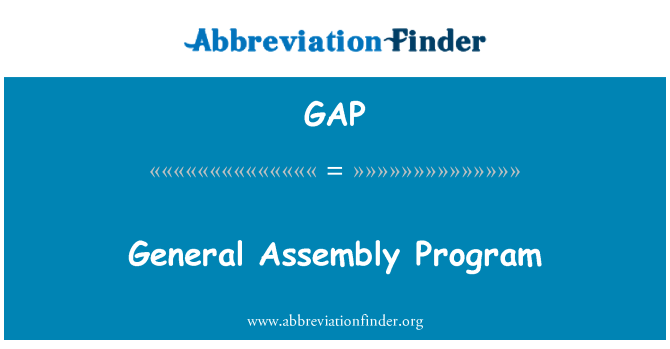 GAP: General Assembly Program