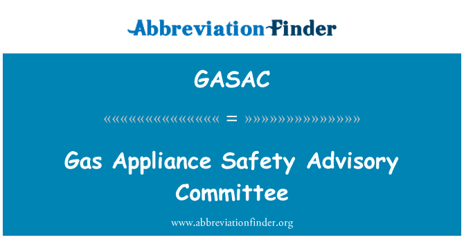 GASAC: Comité Asesor de seguridad de aparato de gas