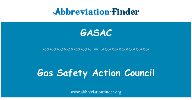 GASAC: Consejo de acción de seguridad de gas