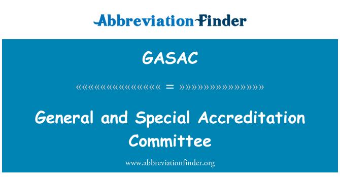 GASAC: Comité de acreditación general y especial