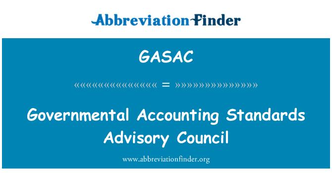 GASAC: Consejo de normas de contabilidad gubernamental
