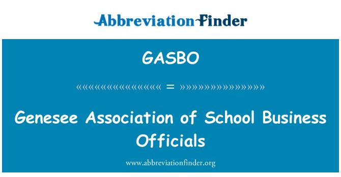 GASBO: Okul iş yetkililerinin Derneği Genesee