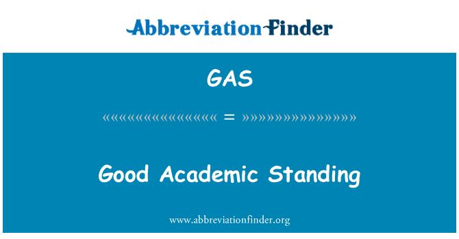 GAS: Good Academic Standing