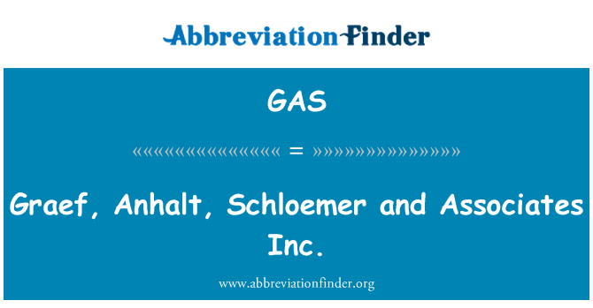 GAS: Graef, Anhalt, Schloemer and Associates Inc.