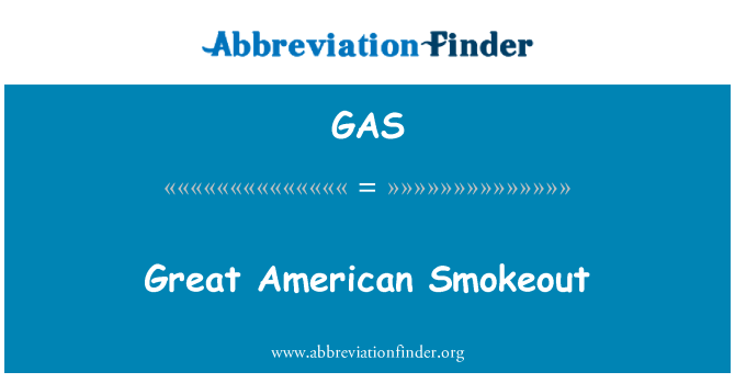 GAS: Great American Smokeout