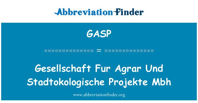 GASP: Bulu Gesellschaft Agrar Und Stadtokologische Projekte Mbh