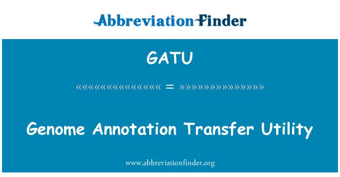 GATU: Genomą anotaciją perkėlimo įrankis