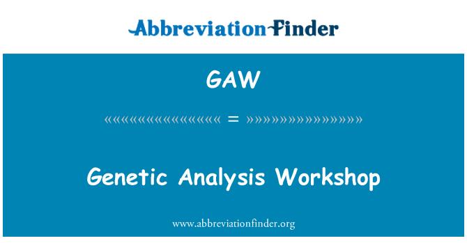 GAW: Genetic Analysis Workshop