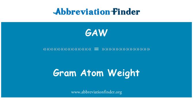 GAW: Gram Atom Weight