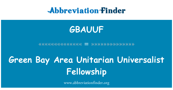 GBAUUF: Green Bay Area Unitarian Universalist Fellowship