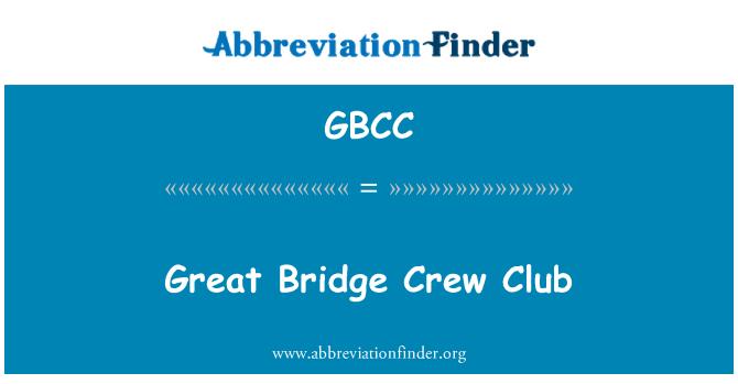 GBCC: Great Bridge Crew Club