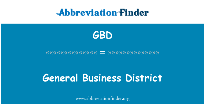 GBD: General Business District