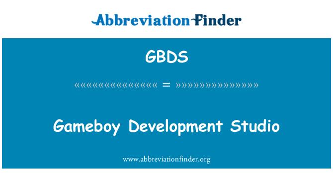 GBDS: Gameboy Development Studio