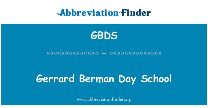 GBDS: Gerrard Berman Day School