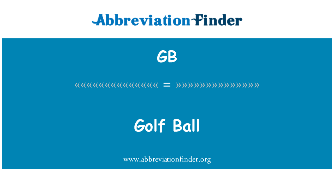 GB: Golf Ball