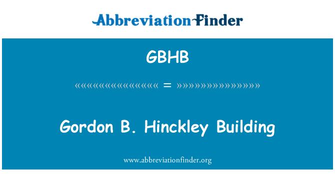GBHB: Gordon B. Hinckley zgrade