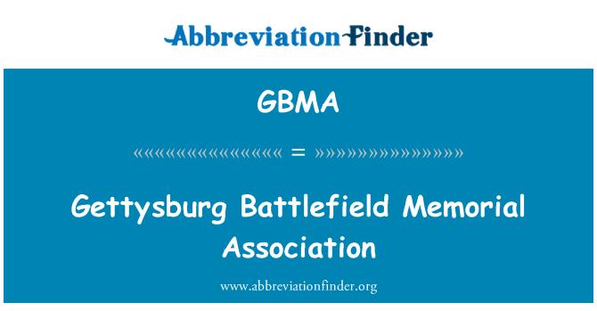 GBMA: Gettysburg Battlefield Memorial Association