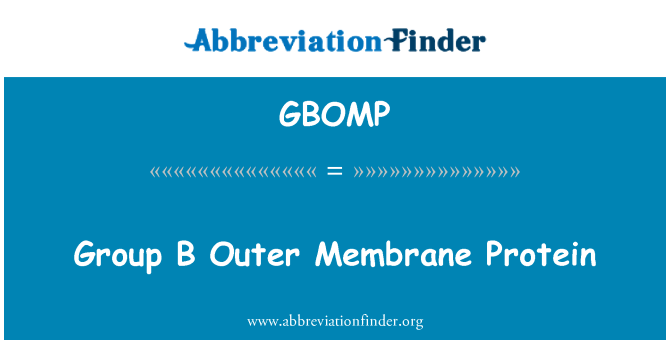 GBOMP: Group B Outer Membrane Protein