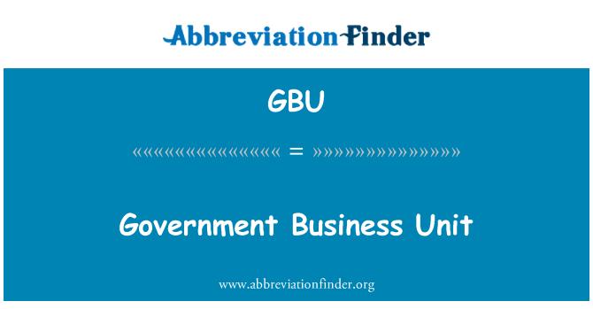 GBU: Government Business Unit