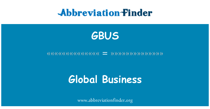 GBUS: Globalne poslovne