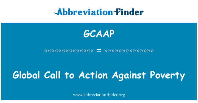 GCAAP: Global Call to Action Against Poverty