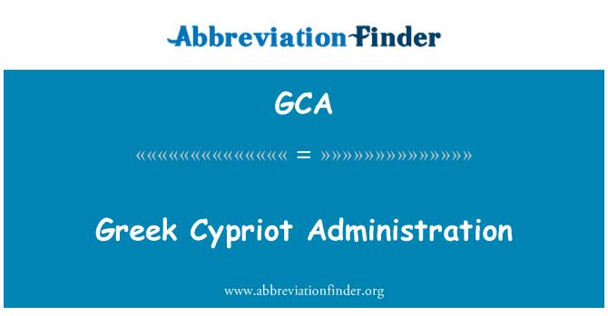 GCA: Greek Cypriot Administration