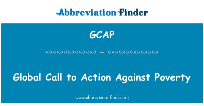 GCAP: Pasaulio raginimo imtis veiksmų prieš skurdą