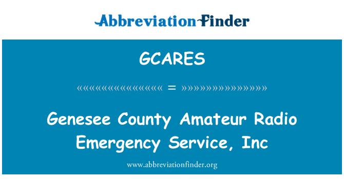 GCARES: Genesee County Amateur Radio Emergency Service, Inc