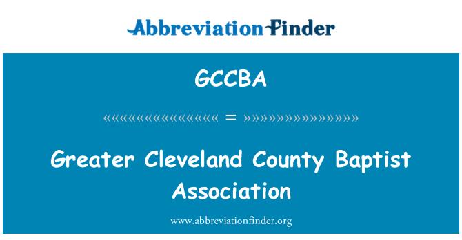GCCBA: Greater Cleveland County Baptist Association