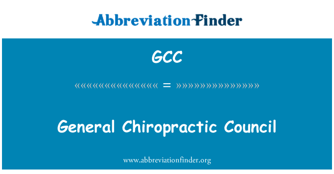 GCC: General Chiropractic Council