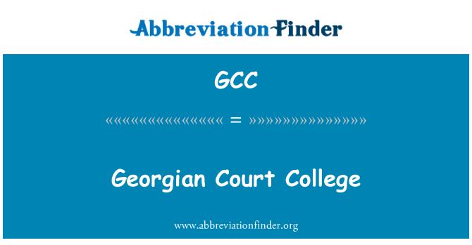GCC: Georgian Court College