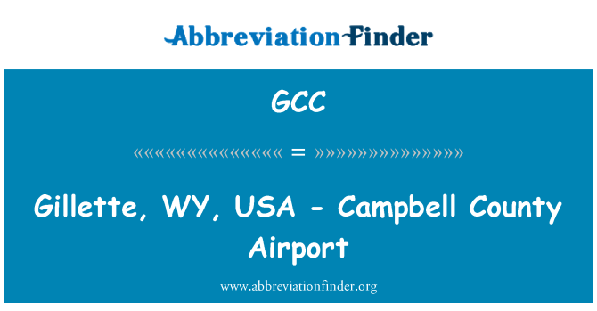 GCC: Gillette, WY, USA - Campbell County Airport