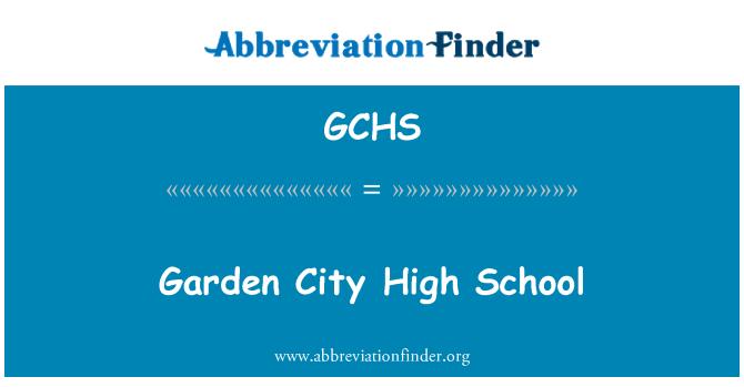 GCHS: Sekolah Menengah Taman bandar