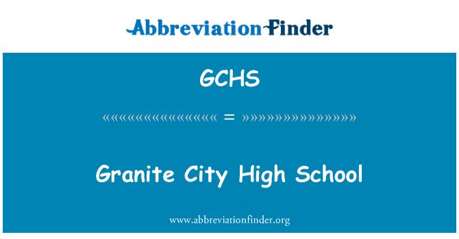 GCHS: Gránit város középiskolás