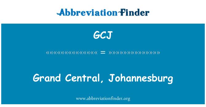GCJ: Grand Central, Johannesburg