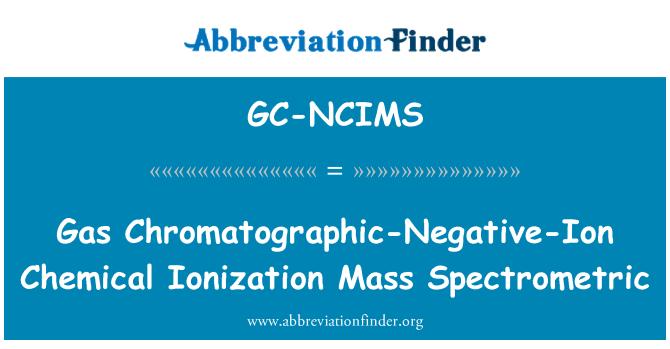 GC-NCIMS: Gas Chromatographic-Negative-Ion Chemical Ionization Mass Spectrometric