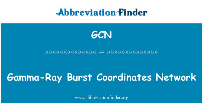 GCN: Gamma-Ray Burst Coordinates Network