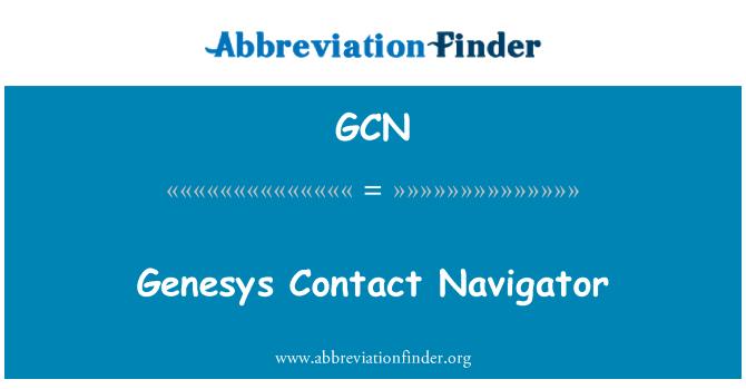 GCN: Genesys Contact Navigator