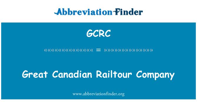 GCRC: Suur Kanada Railtour firma