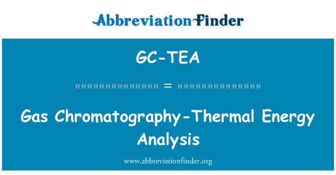 GC-TEA: Gas Chromatography-Thermal Energy Analysis