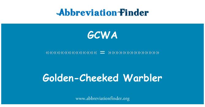 GCWA: Golden-Cheeked Warbler