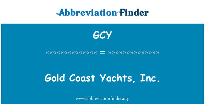 GCY: Gold Coast Yachts, Inc.